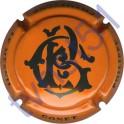 GONET Philippe n°04 orange et bleu foncé