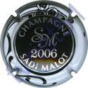 MALOT Sadi n°34k millésime 2006 noir contour blanc