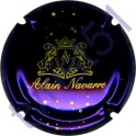 NAVARRE Alain n°10a violet-métallisé et or