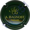 BAGNOST A. vert foncé et or