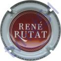 RUTAT René n°08b bordeaux contour blanc