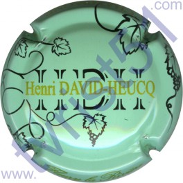 DAVID-HEUCQ Henri : fond vert-jaune pâle