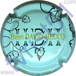 DAVID-HEUCQ Henri  : fond vert pâle