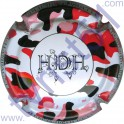 DAVID-HEUCQ Henri : fond blanc tacheté rouge