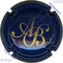BAGNOST A. n°02 bleu foncé et or