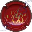 BAGNOST A. n°12 rouge et or