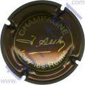 AUBRY JEAN n°07b marron métallisé et or petites lettres épaisses