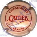 CATTIER : saumon et rouge verso or