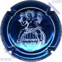 LETE A. n°14 bleu métallisé et blanc