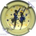 COTEAUX SIX CHARLES HESTON n°04 danseurs bleu foncé