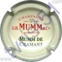 MUMM n°127 Mumm de Cramant inscription contour