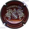 TRIPET-TRIOLET n°05 bordeaux et crème