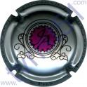 AUBRY Jean : fond argent, violet et noir