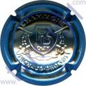 RICHARD-DHONDT n°08q estampée RD contour bleu striée