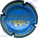 PORET Jany n°12 bleu pâle et or striée