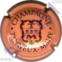 TANNEUX-MAHY n°09e saumon et marron