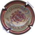 HERVIEUX-DUMEZ : contour rosé foncé fond crème foncé