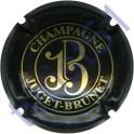 JUGET-BRUNET n°07 noir et or pâle verso or