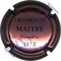 MAITRE n°11 rosé et noir striée