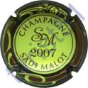MALOT Sadi n°34l millésime 2007 vert pâle contour marron