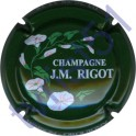 RIGOT J.M. n°10 vert inscription contour