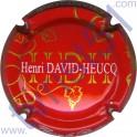 DAVID-HEUCQ Henri : fond rouge