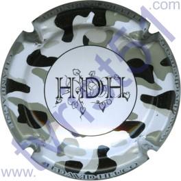 DAVID-HEUCQ Henri : fond blanc tacheté gris