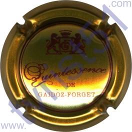 GAIDOZ-FORGET : or foncé et bordeaux verso or