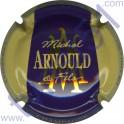 ARNOULD MICHEL n°35 violet foncé contour crème inscription contour