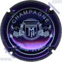 MALNIS Patrice n°08 violet métallisé et blanc