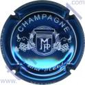 MALNIS Patrice n°09 bleu métallisé et blanc