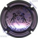 DEVILLE-CHEVALLIER n°16 rosé-violacé et noir striée