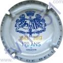 BESSERAT DE BELLEFON n°36 170 ans blanc et bleu 32 mm