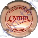 CATTIER : saumon et rouge verso or