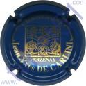 DE CARLINI n°17a bleu dessin or grandes lettres