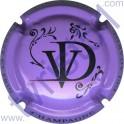 DELAGARDE-DELOZANNE n°03 violet pâle et noir
