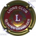 LIONS CLUB : bordeaux contour or