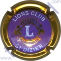 LIONS CLUB : mauve contour or