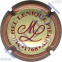 LENIQUE Michel n°02 crème et rouge striée