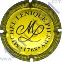 LENIQUE Michel n°10 jaune vif et noir striée