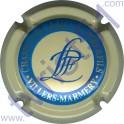 LEJEUNE P. & F. n°15 crème cercle bleu