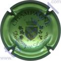 LEMAIRE Dominique n°05 petit blason vert pâle métallisé et noir