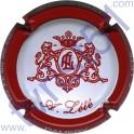 LETE A. n°01 blanc contour rouge