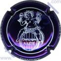 LETE A. n°15 violet métallisé et blanc