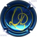 QUATREVAUX David n°01 bleu vif métallisé et or