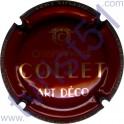 COLLET n°05d Art Déco, bordeaux et or
