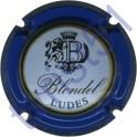 BLONDEL n°36 contour bleu lettres noires
