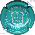 TANNEUX-MAHY n°09j turquoise et blanc