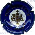 DELAMOTTE n°14 bleu lettres or pâle
