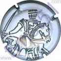TAITTINGER : blanc et gris avec liseret sur le contour